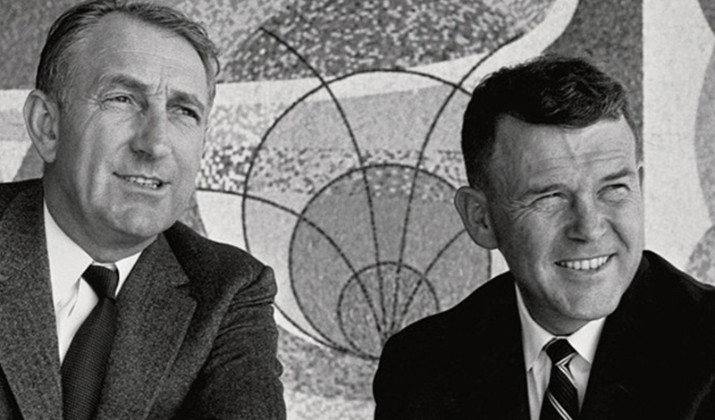 Bill Hewlett and Dave Packard (Hewlett-Packard)